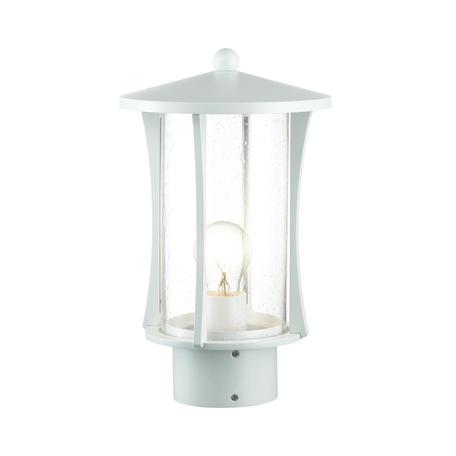 Садово-парковый светильник Odeon Light 4173/1B, IP33, белый, прозрачный, металл, стекло