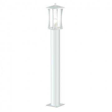 Уличный фонарь Odeon Light 4173/1F, IP33, белый, прозрачный, металл, стекло