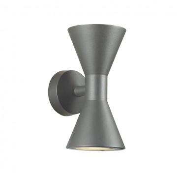 Настенный светильник Odeon Light 4610/10WL, IP65, черный, металл, стекло
