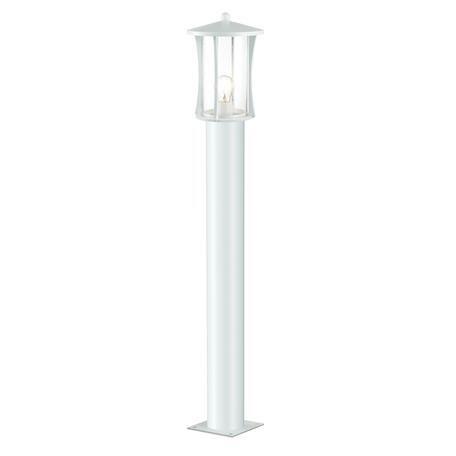 Уличный фонарь Odeon Light Galen 4173/1F, IP33, 1xE27x40W, белый, прозрачный, металл, металл со стеклом/пластиком