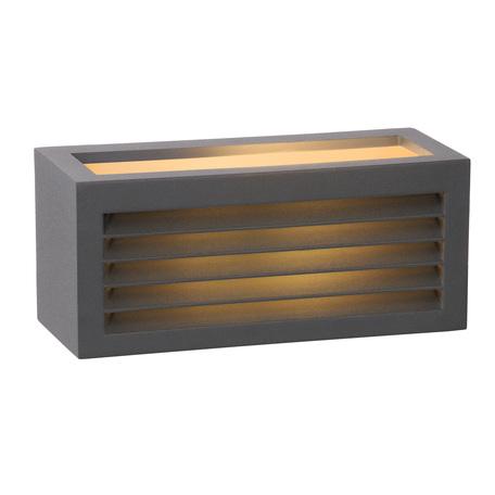 Настенный светильник Lucide Dimo 27853/01/30, IP54, 1xE27x18W, серый, металл