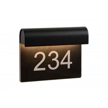 Светодиодный светильник-указатель Lucide Thesi-LED 27881/06/30, IP54, LED 6W 3000K (теплый), черный, металл
