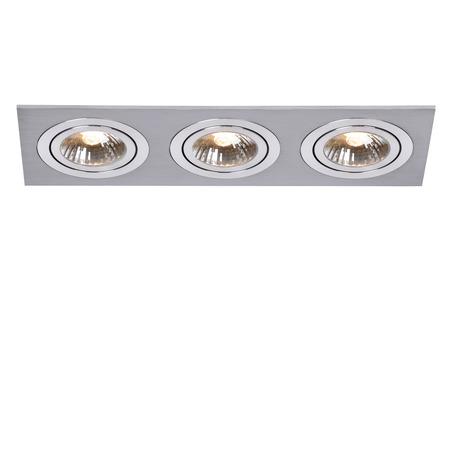 Встраиваемый светильник Lucide Chatty 28901/03/12, 3, алюминий, хром, металл