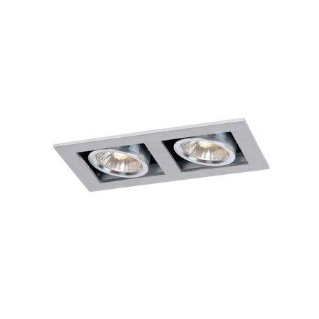Встраиваемый светильник Lucide Chimney 28900/02/12, 2xGU10x50W, матовый хром, металл