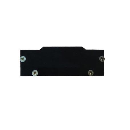 Концевая заглушка для шинопровода Denkirs TR3060-AL, черный, металл