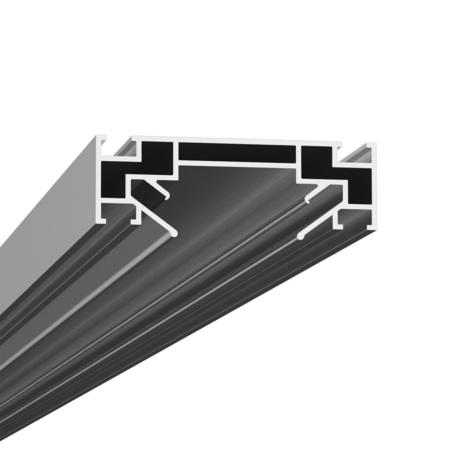 Крепление для встраиваемого монтажа шинной системы в натяжной потолок Denkirs Smart TR3030-AL, серый, металл