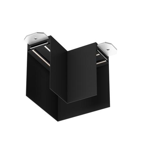 L-образный соединитель для шинопровода Denkirs Smart TR2102-BK, черный, металл