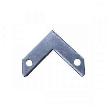 L-образный соединитель для встраимового в натяжной потолок шинопровода  Denkirs Smart TR3090-AL, алюминий, металл