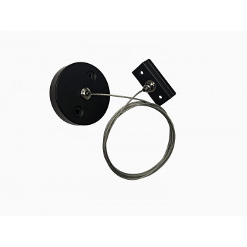 Набор для подвесного монтажа шинной системы Denkirs TR2106-BK, черный, металл