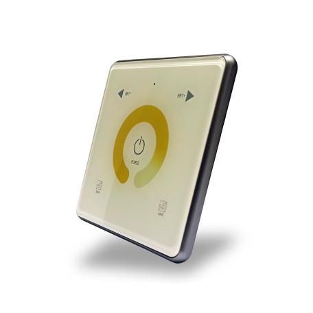 Настенная панель управления Denkirs Smart DK7200-WH, бежевый, металл со стеклом
