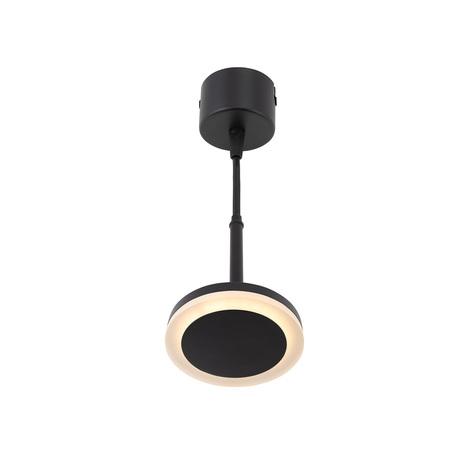 Подвесной светодиодный светильник Denkirs DK4022-BK, LED 6W, черный, металл, металл с пластиком