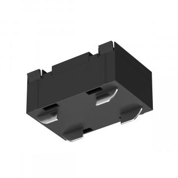 Прямой соединитель для шинопровода Denkirs Smart TR2101-BK, черный, металл