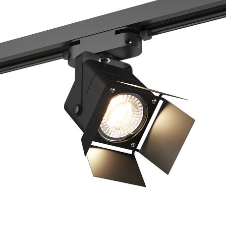 Светильник с регулировкой направления света для шинной системы Denkirs DK600 DK6012-BK, 1xGU10x50W, черный, металл
