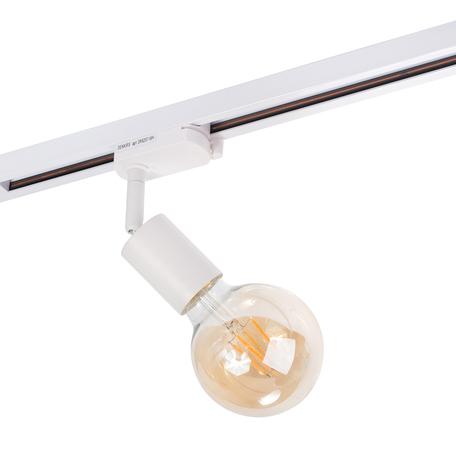 Светильник с регулировкой направления света для шинной системы Denkirs DK6207-WH, 1xE27x60W, белый, металл