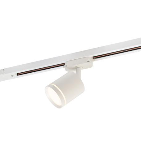 Светодиодный светильник с регулировкой направления света для шинной системы Denkirs DK6401-WH, LED 9W, белый, черный, металл