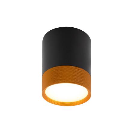 Потолочный светодиодный светильник Denkirs DK4017-BG, LED 7W, черный с золотом, металл