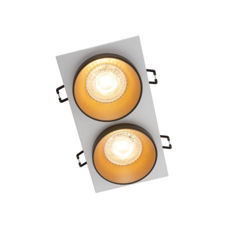 Встраиваемый светильник Denkirs DK2400 DK2422-GD, 2xGU10x50W, золото с черным, металл