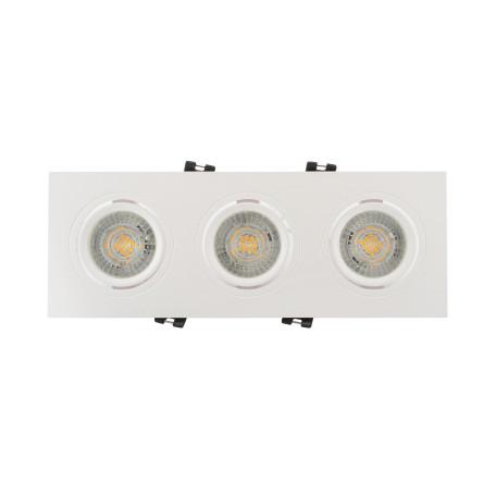 Встраиваемый светильник с регулировкой направления света Denkirs DK3021 DK3023-WH, 3xGU5.3x10W, белый, пластик