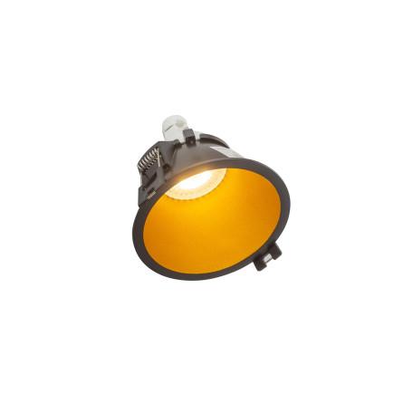 Встраиваемый светильник Denkirs DK3026-BG, 1xGU5.3x10W, золото с черным, пластик
