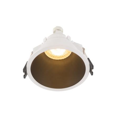Встраиваемый светильник Denkirs DK3026-WB, 1xGU5.3x10W, черный с белым, пластик