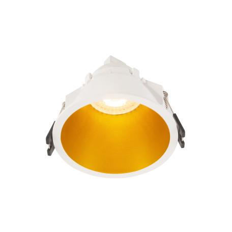 Встраиваемый светильник Denkirs DK3026-WG, 1xGU5.3x10W, золото с белым, пластик