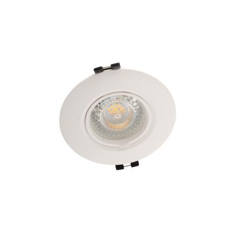 Встраиваемый светильник Denkirs DK3028-WH, 1xGU5.3x10W, белый, пластик