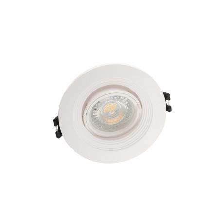 Встраиваемый светильник с регулировкой направления света Denkirs DK3029-WH, 1xGU5.3x10W, белый, пластик