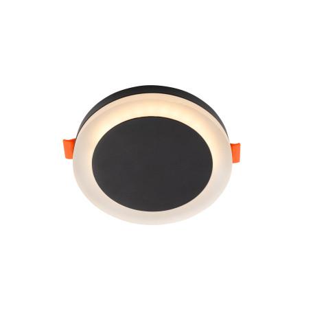 Встраиваемый светодиодный светильник Denkirs DK4020-BK, LED 6W, черный, металл с пластиком