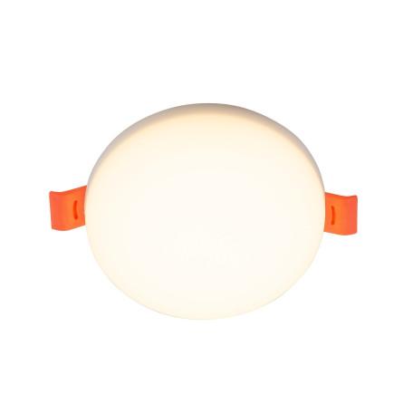 Встраиваемый светодиодный светильник Denkirs DK4600-WW, LED 8W, белый, пластик
