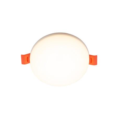 Встраиваемый светодиодный светильник Denkirs DK4600 DK4601-DW, LED 8W, белый, пластик