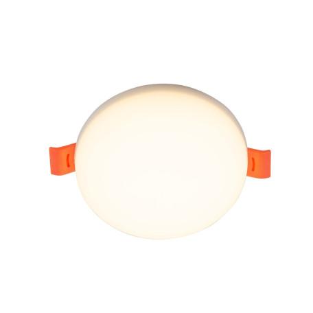 Встраиваемый светодиодный светильник Denkirs DK4600 DK4604-WW, LED 18W, белый, пластик