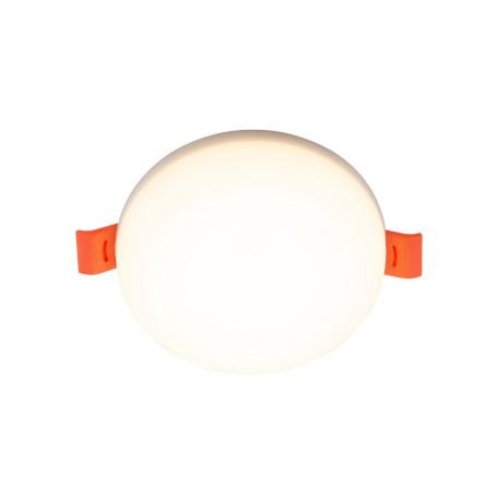 Встраиваемый светодиодный светильник Denkirs DK4600 DK4605-DW, LED 18W, белый, пластик