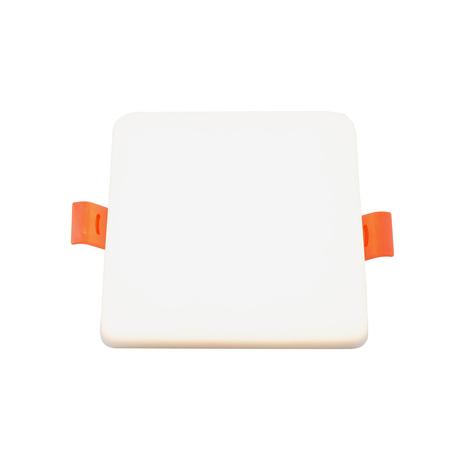 Встраиваемый светодиодный светильник Denkirs DK4600 DK4607-DW, LED 18W, белый, пластик