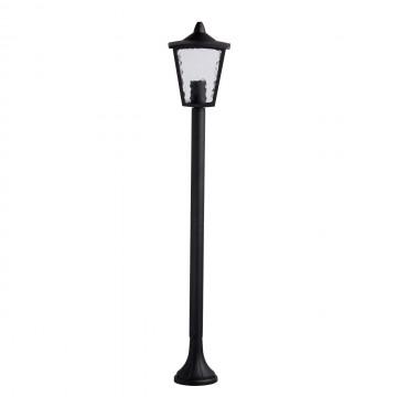 Уличный фонарь De Markt Телаур 806040501, IP44, 1xE27x60W, черный, матовый, металл, стекло