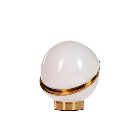 Настольная лампа Loft It Crescent 5063T-B, 1xE27x40W, золото, белый с золотом, металл, пластик