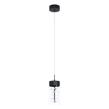 Светодиодный светильник Eglo Stars of Light Modern Glamour Cabezola 39736, LED 5,3W 3000K 580lm, черный, прозрачный, металл, стекло с хрусталем