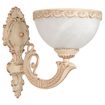 Бра Nowodvorski Olimpia 4356, 1xE27x60W, бежевый с золотой патиной, белый, металл, стекло