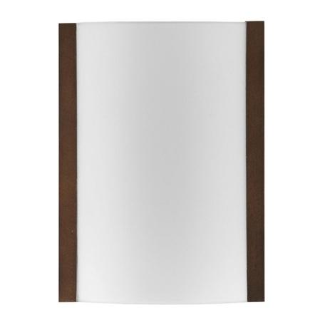 Настенный светильник Nowodvorski KLIK wenge 2921, 1xE27x100W, венге, белый, металл, дерево, стекло - миниатюра 1