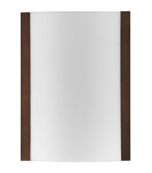 Настенный светильник Nowodvorski KLIK wenge 2921, 1xE27x100W, венге, белый, металл, дерево, стекло - фото 1