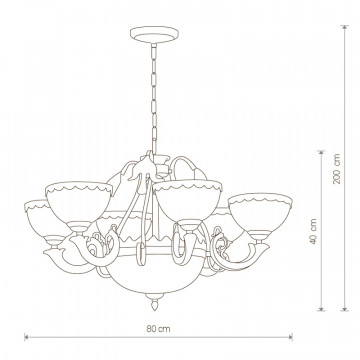 Схема с размерами Nowodvorski 4355