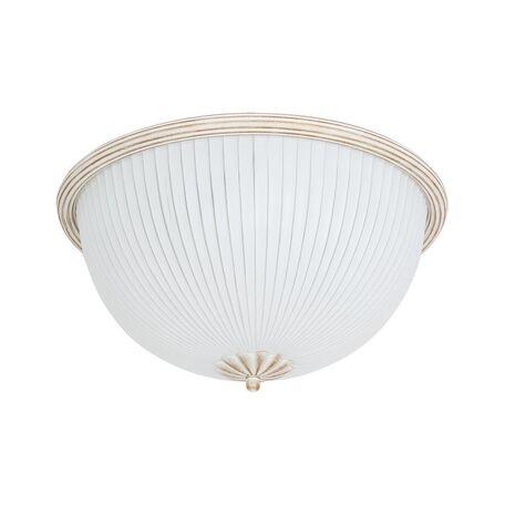 Потолочный светильник Nowodvorski Baron White 5993, 2xE27x60W, белый с золотой патиной, белый, металл, стекло