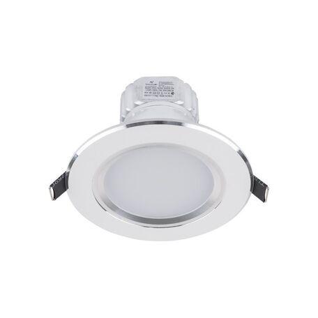 Встраиваемый светодиодный светильник Nowodvorski Ceiling LED 5955, LED 5W 4000K 450~500lm, белый, металл со стеклом, стекло