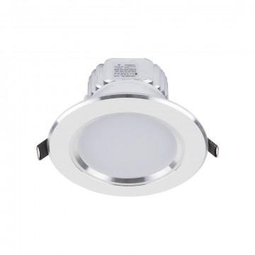 Встраиваемый светодиодный светильник Nowodvorski Ceiling LED 5956, LED 7W 4000K 630~700lm, белый, металл со стеклом, стекло