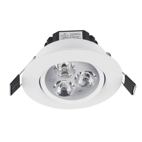 Встраиваемый светодиодный светильник Nowodvorski Ceiling LED 5957, LED 3W 4000K 270~300lm, белый, прозрачный, металл, пластик