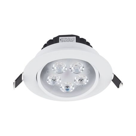 Встраиваемый светодиодный светильник Nowodvorski Ceiling LED 5958, LED 5W 4000K 450~500lm, белый, прозрачный, металл, пластик