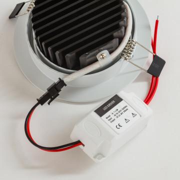 Встраиваемый светодиодный светильник Nowodvorski Ceiling LED 5958, LED 5W 4000K 450~500lm, белый, металл, металл с пластиком - миниатюра 2