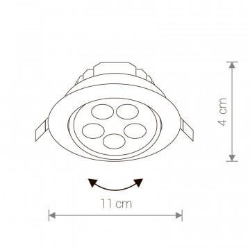 Схема с размерами Nowodvorski 5958