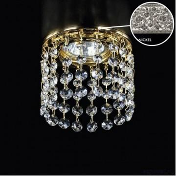 Встраиваемый светильник Artglass SPOT 16 NICKEL CE, 1xGU10x35W, никель, прозрачный, металл, хрусталь Artglass Crystal Exclusive