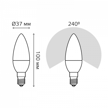 Схема с размерами Gauss Elementary 33118