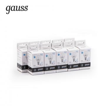 Светодиодная лампа Gauss Elementary 53128 шар E14 8W, 4100K (холодный) CRI>80 180-240V, гарантия 2 года - миниатюра 2